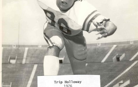 Trip Holloway pictured from his football career as a young man.