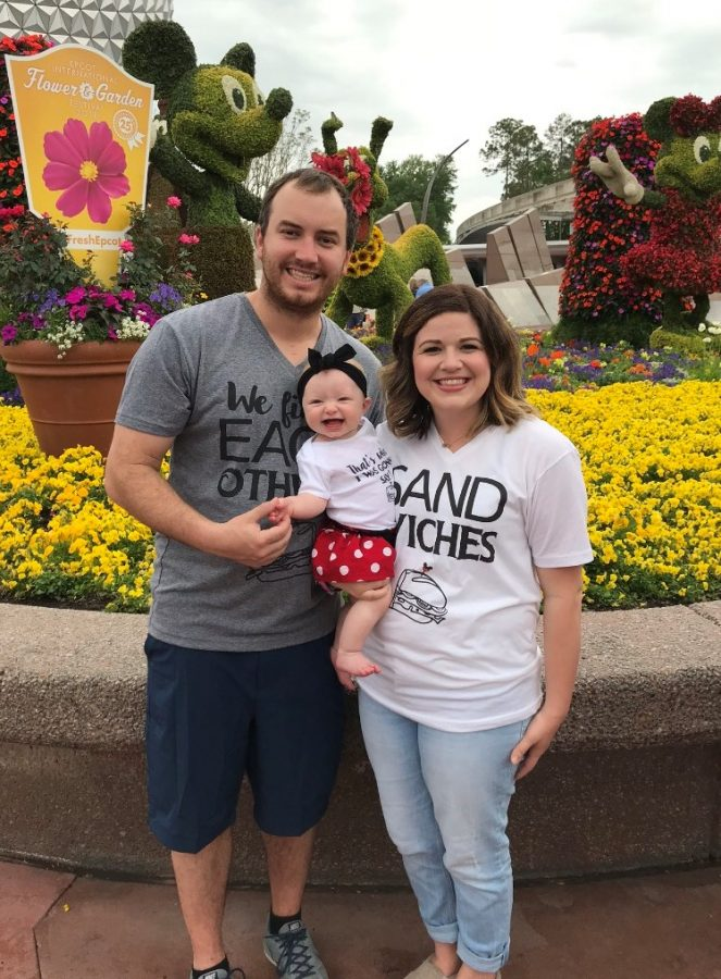 Brittany and Bryan Picou attend a family vacation to Disney with their new daughter.