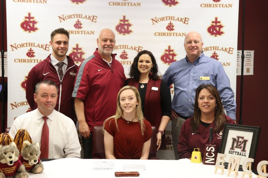Watts signs as first softball player in school history