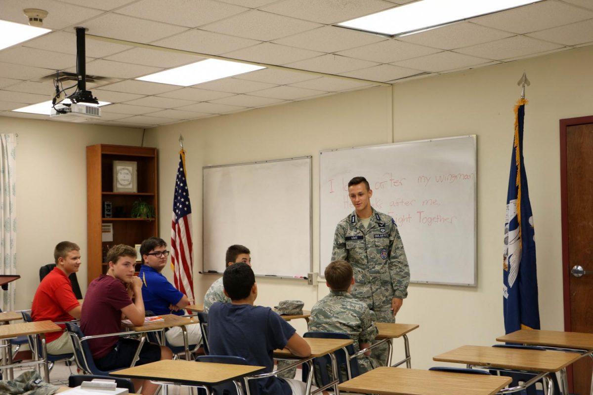 Cadets go through leadership training.