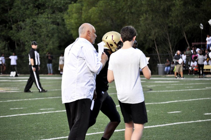Coach Tony Agresta leads the Wolverine during the Fall football season.