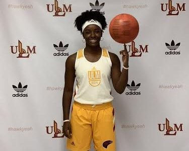 Senior Kyren Whittington on a visit to the University of Louisiana at Monroe.